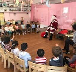 Santa with children in circle 1