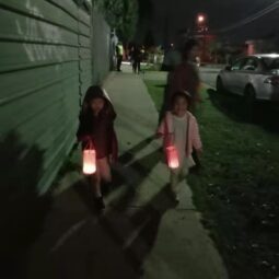 Mother's Day Lantern walk Louis and Olivia2021
