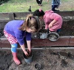 Mud play Annabelle and Alana 2021