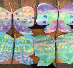 Butterflies water painting